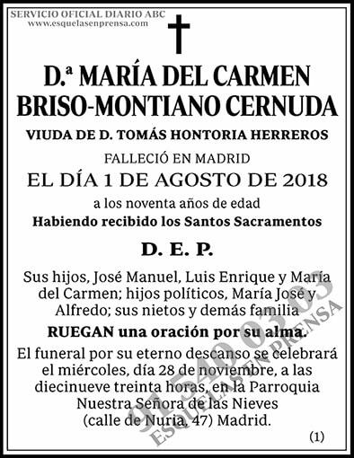María del Carmen Briso-Montiano Cernuda